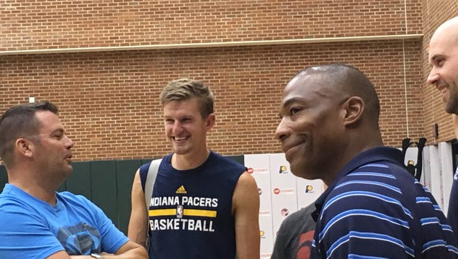 The Indiana Pacers held tryouts Monday night for Boomer's Power Pack.