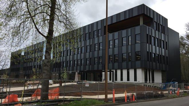 Construction on the SAIF Corporation building at 400 High St. SE in Salem, Oregon, on April 13, 2018.