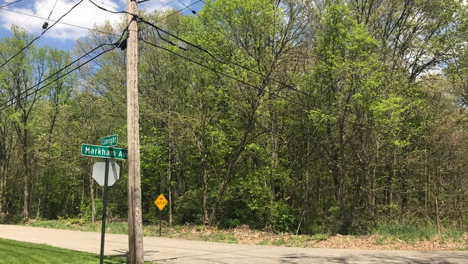 A section of the 36-acre wooded lot is located on the northeast corner of Markham Avenue and Canright Street.