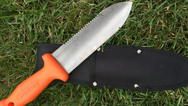 The soil knife is a favorite of the staff at Yew Dell Botanical Gardens