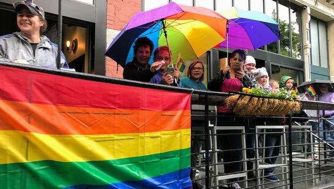 Pride Parade at Big Sky Pride 2018 in Helena.