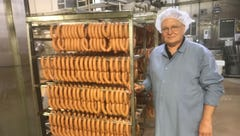 Mike Bidzerkowny and his father have worked for Zweigle's for 85 years