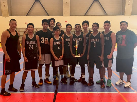 The Sharks came in second place after the Warriors in the 2017 GYBA Drug Free Youth Basketball League on July 29 at the Guam Sports Complex in Dededo.