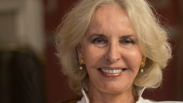 Sally Quinn, photographed at her Washington home about