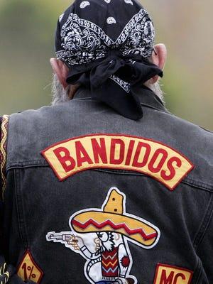 This file photo shows a Bandidos motorcycle gang member