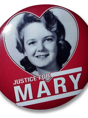 Friends and family members of Mary Horton Vail wore this button to court hearings.