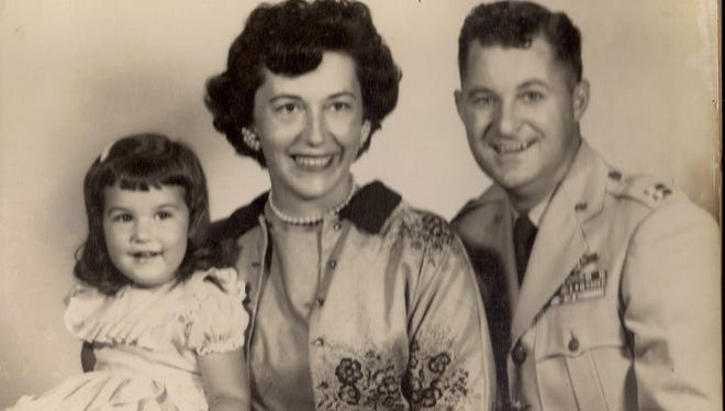 The Gardner family in 1957, just before leaving the U.S. for three years in Berlin, Germany, where Mack Gardner was an Air Force navigator. He was killed in a peace-time mission just a few months after the family returned from Berlin and were stationed in Charleston, S.C. He was 35, daughter Sherri was 6.