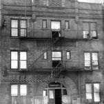 """Crimes against four of the 11 tenants in a few weeks dubbed this apartment building at 67 Alexander Street """"House of Terror"""" (staff photo) DC 7/5/1971"""