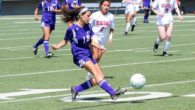 Wylie midfielder Leandra Benton (19) was a key piece in the team's run to the Region I-4A final last season. Benton and the Lady Bulldogs will be challenged this year with a move up to Class 5A under first-year head coach Robert Alvarez.