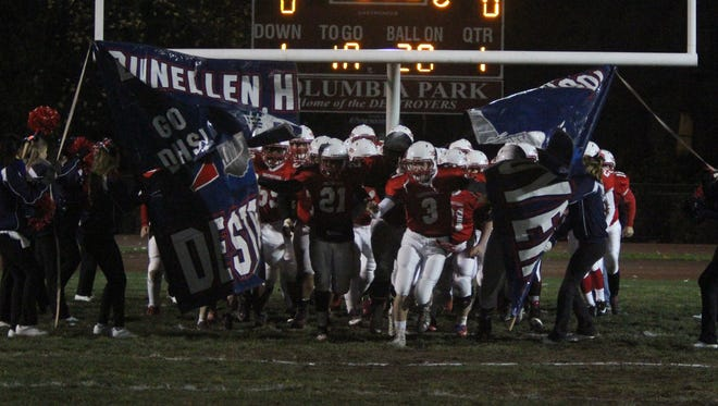 Bound Brook at Dunellen football in a Central Group I first round playoff game held at Columbia Park in Dunellen.On Friday November 14,2014Photo: Mark R. Sullivan/Staff Photographer