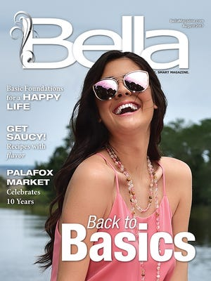 Bella August front cover. Model: Bailey McCrackin.