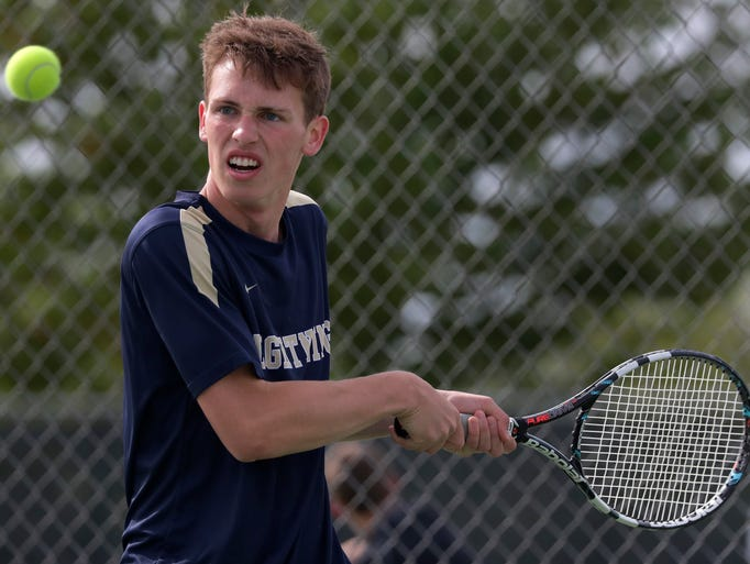 Appleton North High School's Andrew Wilks during the