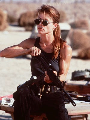 Sarah Connor (Linda Hamilton) is driven by her need to prevent humanity's downfall in 'Terminator 2: Judgment Day.'