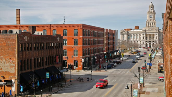 The Court Avenue district in downtown Des Moines Monday, March 30, 2015.