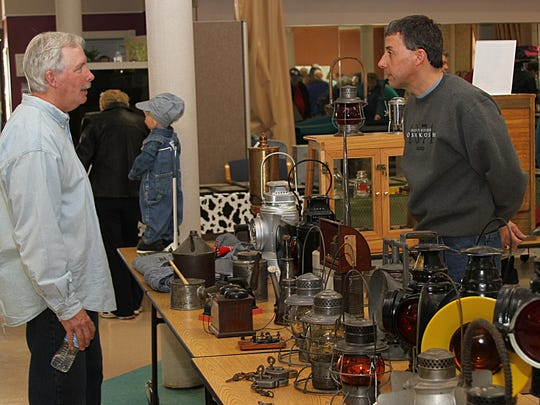 Paul Spanbauer is a train collector who participated in the Antique Show in 2014 at the Oshkosh Seniors Center.