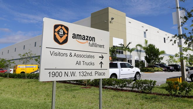 "An Amazon ""fulfillment center"" in Miami."