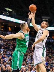 Tyler Zeller, acquired in an early February trade with the Nets, provided a strong presence down low who wasn't afraid to bang bodies a bit, something the Bucks had been lacking.