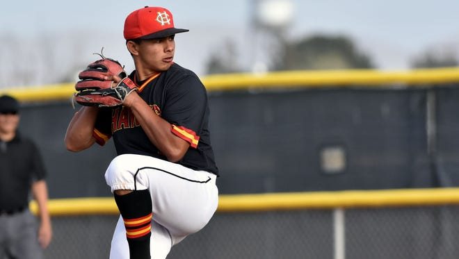 Centennial senior Jadon Archuleta has been one of the top pitchers for the Hawks this season.