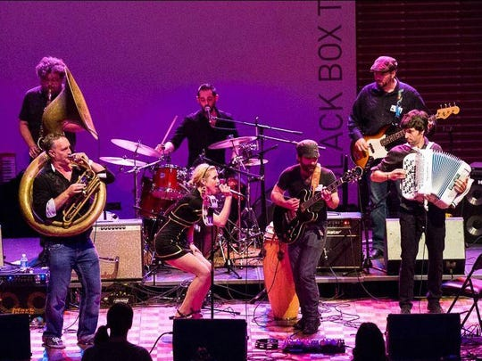 Horns drive the sound of Washington, D.C.-based band Black Masala, which will perform Saturday in Trumansburg.