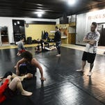 Justin LaBenne, owner and head instructor, teaches at Clyde's Iron & Soul Jiu-Jitsu.