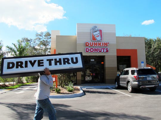 Dunkin' Donuts drive-thru recently opened at 3345 Radio Road, just east of Airport-Pulling Road, in East Naples.