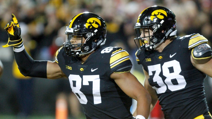 Tight ends Noah Fant and T.J. Hockenson are likely going in the first round of the NFL draft. Which is definitely better than going to the Outback Bowl every other year.
