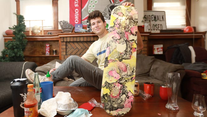 To help combat depression during the COVID-19 pandemic, Zack Singer painted a skateboard. Singer is the president and founder of Mental Health Matters, an organization at Ohio State whose mission is to end the stigma of mental health, and he recommends that people with seasonal affective disorder invest in light therapy.