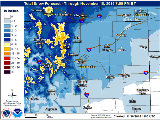 Snowfall total forecast