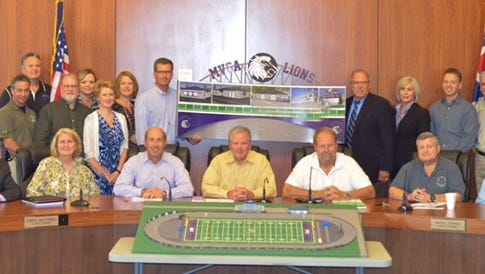 The village of Newtown finalized their cooperative partnership with Miami Valley Christian Academy at the official signing on the venture to build a multi-million dollar sports complex in Short Park.