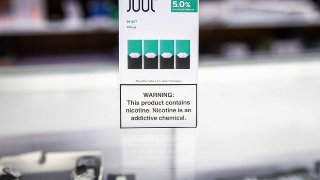 """The University of Kansas implemented its """"Tobacco Free KU"""" policy in 2018 to ban faculty, staff, students and visitors from consuming tobacco products including e-cigarettes on campus. Easy-to-conceal products, such as Juul, remain a popular vice for students on campus as limited flavors continue to be sold on shelves."""