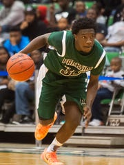 Parkside guard Dajour Diggs (35) drives to the basket