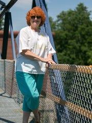 Carol Ritter Wright at locks 2 and 3 of the Cayuga-Seneca