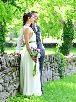 Dawn Maddux and Samir Masic married at the Green Hills-area home of a family friend.