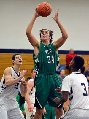 York College's Dalton Myers earned first-team All CAC honors on Monday after leading the Spartans in scoring as a junior.