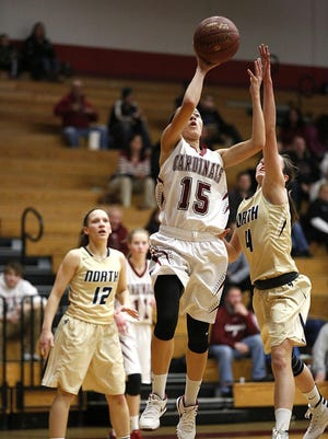 Fond du Lac's Aleah Wendels goes up for a basket against Appleton North on Thursday in Fond du Lac.