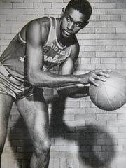 Johnny Wilson as a Harlem Globetrotter.