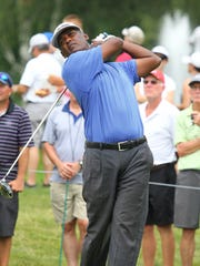 Vijay Singh makes his first Dick's Sporting Goods Open appearence.
