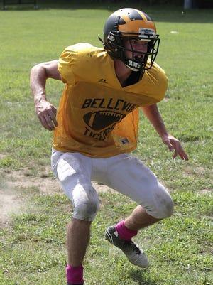 Adam Hazeres of Bellevue comes up to make a tackle.