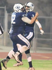 Central Valley Christian's Dane Nelson celebrates with
