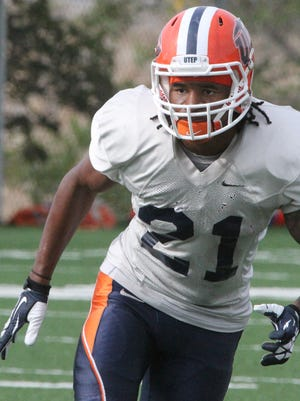 UTEP defensive back Dashone Smith, 21, works during Tuesday's practice at Glory Field.