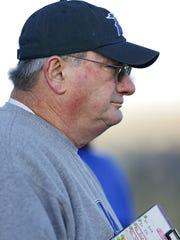 Geraldine-Highwood's head football coach Rod Tweet