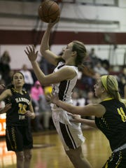 Morristown junior Elizabeth Strambi shoots during the