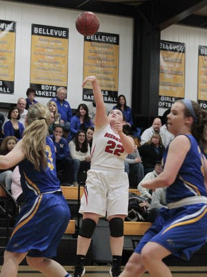Lainey Sullivan puts up a shot for Beechwood.