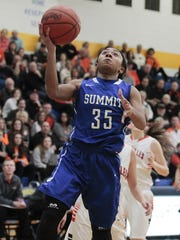 Ravin Alexander of Summit puts in a layup for the Silver