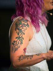 Angela Page shares the story behind her tattoo on Thursday