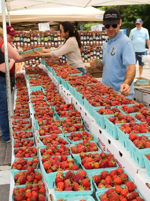 Lots of strawberries will be on sale in Owego for the Strawberry Festival.