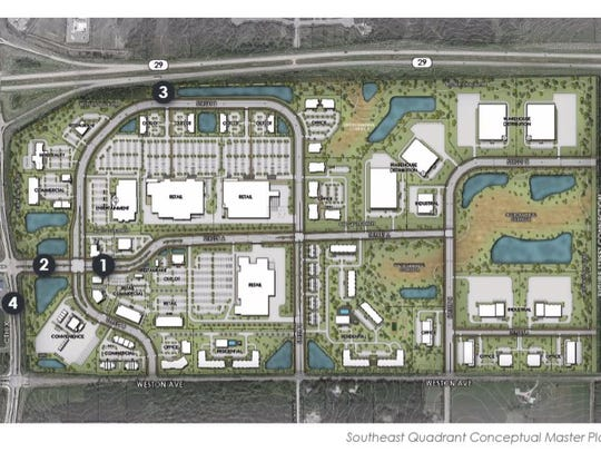 A rendering shows the area of a proposed new $150 million