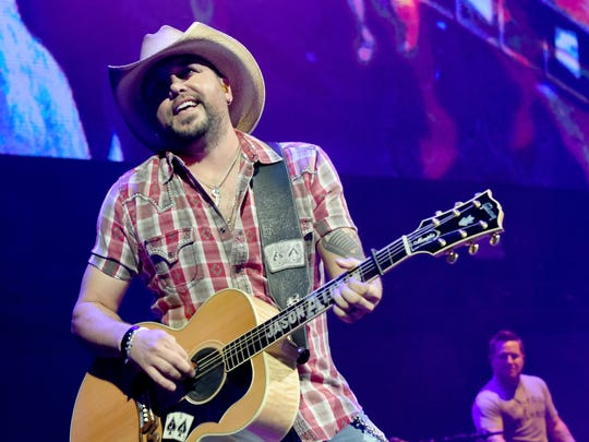 Jason Aldean performs for the Country Rising Benefit