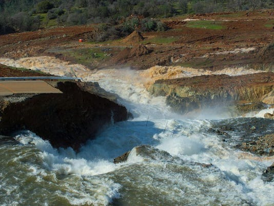 EPA USA CALIFORNIA DAMAGED OROVILLE DAM DIS DISASTERS (GENERAL) USA
