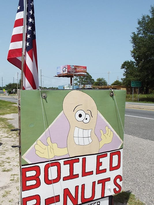 Boiled peanuts sign flag